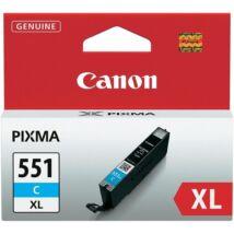 CANON Patron CLI-551C XL, kék, P7250, iP8750, MG5450, MG5550, MG6350, MG6450, MG7150, MX925
