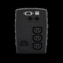 CYBERPOWER UPS VALUE600EILCD (3xIEC 320) 600VA 360W 230V szünetmentes tápegység + USB LINE-INTERACTIVE