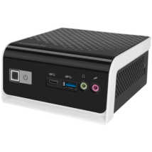 "GIGABYTE PC BRIX, Intel Celeron J4105 2.5 GHz, HDMI, D-Sub, LAN, WIFI, Bluetooth, 2,5"" HDD hely, USB 3.0"
