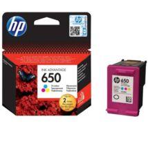 HP Patron No 650 háromszínű tintapatron Ink Advantage