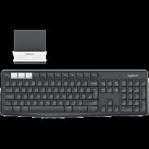 LOGITECH Vezeték Nélküli billentyűzet és állvány páros - K375s Multi-Device