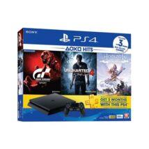 SONY PS4 Konzol 1TB + GT Sport + Horizon Zero Dawn + Uncharted 4 (HITS)