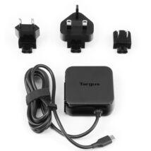 TARGUS Notebook töltő APA95EU, Universal USB C Mains Charger - Black