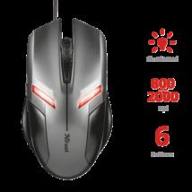 TRUST Vezetékes Egér Ziva Gaming Mouse