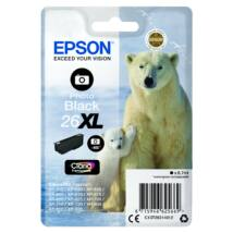 Epson T2631 Patron Photo Black 8,7ml 26XL (Eredeti)