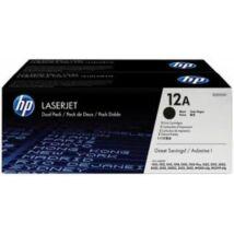 HP Q2612AD Toner Black 2x2k No.12AD (Eredeti)