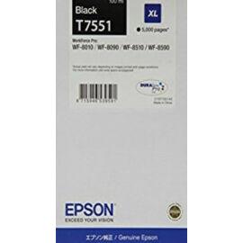 Epson T7551 Patron Bk 5K (Eredeti) C13T755140