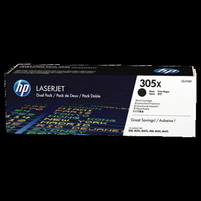 HP CE410XD Toner Black 2x4k No.305X (Eredeti)