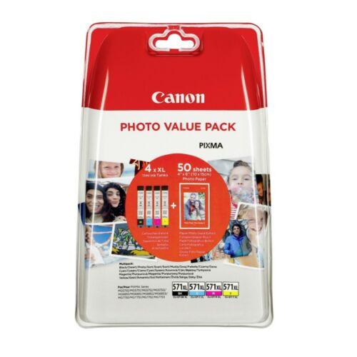 Canon CL571XL Bk/C/M/Y+10x15 PP201 Multipack /eredeti/ 0332C005
