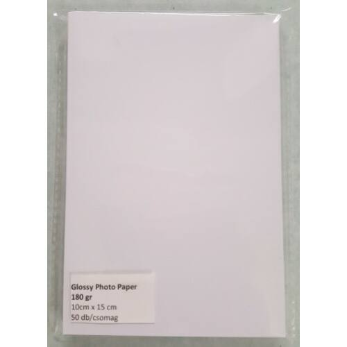 Glossy Photo paper 10x15 180g/50db