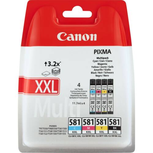 Canon CLI581XXL Patron MULTIPACK C/M/Y/Bk /eredeti/ 1998C005