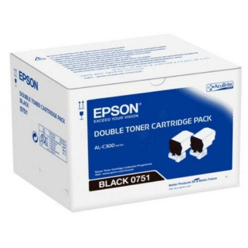Epson C300 Toner Dupla Bk 2*7,3K /orig/ C13S050751