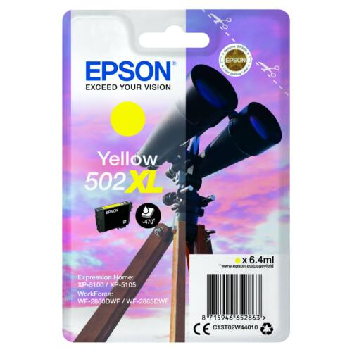 Epson T02W4 Patron Yellow 6,4ml (Eredeti) C13T02W44010
