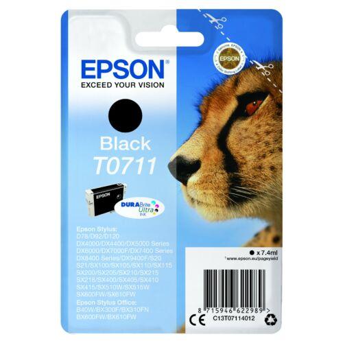 Epson T0711 Patron Black 7,4ml (Eredeti) C13T07114012