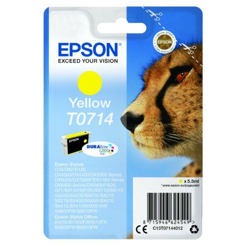 Epson T0714 Patron Yellow 5,5ml (Eredeti) C13T07144012