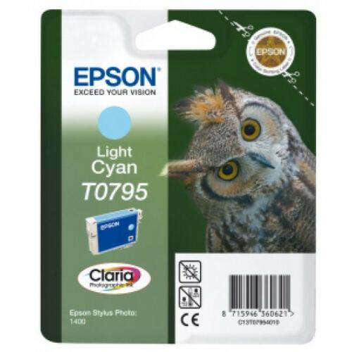 Epson T0795 Patron Light Cyan 11ml (Eredeti) C13T07954010