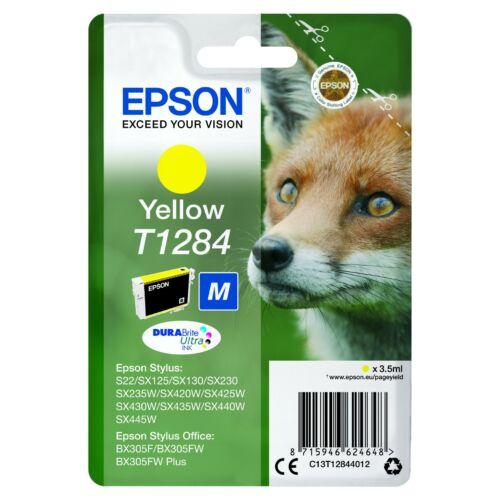 Epson T1284 Patron Yellow 3,5ml (Eredeti) C13T12844012