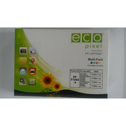 EPSON T1285 Multipack  ECOPIXEL BR (For use)