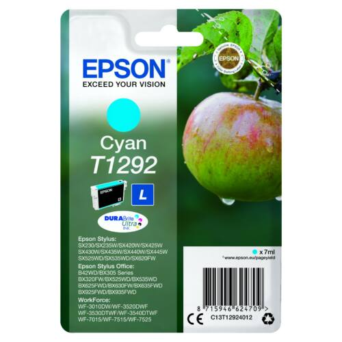 Epson T1292 Patron Cyan 7ml (Eredeti) C13T12924012