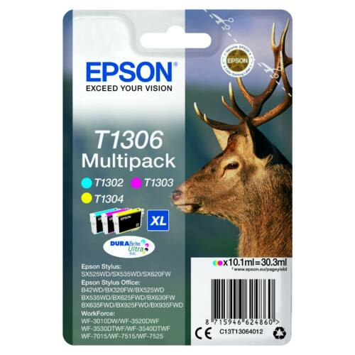 Epson T1306 Patron Multipack Három szín (Eredeti) C13T13064012