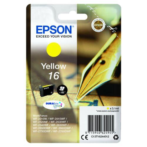 Epson T1624 Patron Yellow 3,1ml 16 (Eredeti) C13T16244012