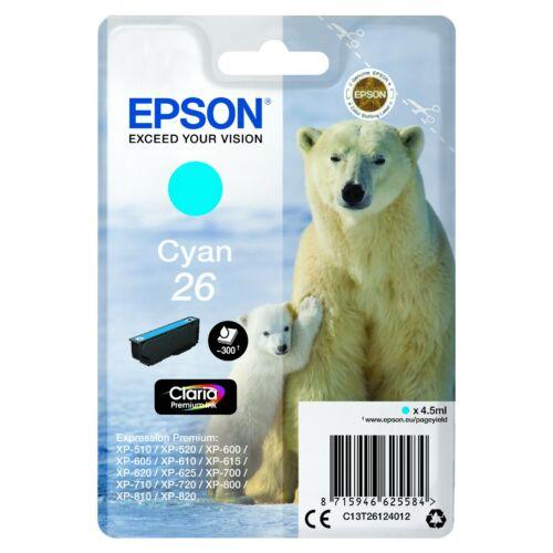 Epson T2612 Patron Cyan 4,5ml 26 (Eredeti) C13T26124012