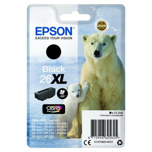 Epson T2621 Patron Black 12,2ml 26XL (Eredeti) C13T26214012