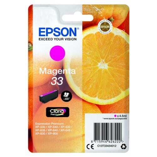 Epson T3343 Patron Magenta 4,5ml (Eredeti) C13T33434012