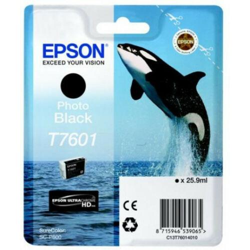 Epson T7601 Patron Photo Black 26ml (Eredeti) C13T76014010
