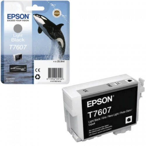 Epson T7607 Patron Light Bk 26ml (Eredeti) C13T76074010