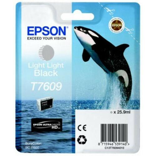 Epson T7609 Patron Light Light Black 26ml (Eredeti) C13T76094010