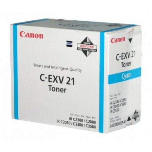 Canon C-EXV 21 Toner Cyan  (Eredeti) CACF0453B002AA